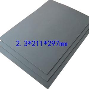 Image 3 - 1pc szary Laser prześcieradło z gumką odporna na ścieranie precyzyjne drukowanie grawerowanie Sealer pieczęć A4 rozmiar 297x211x2.3mm