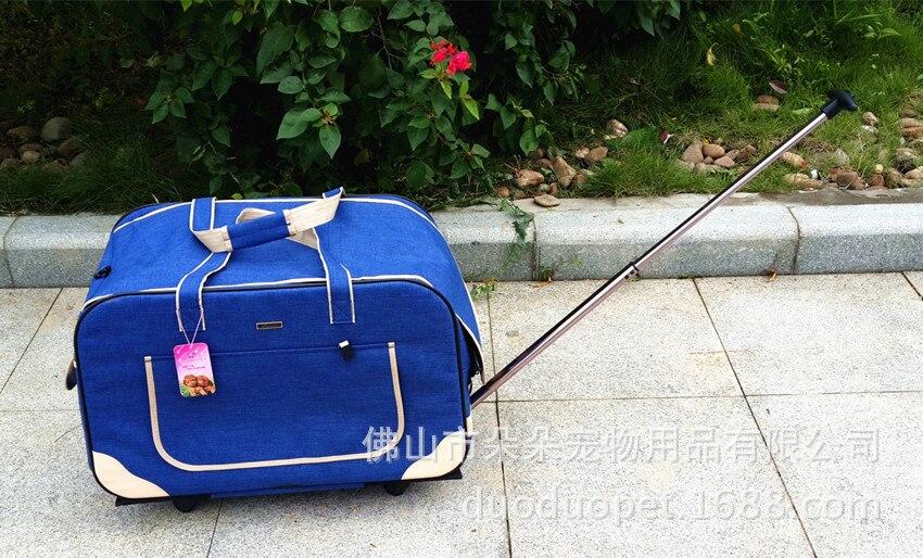 Grey Gepäck Roll Trolley Tragetaschen Tasche Haustier Welpen Hund Träger Tote Pet gaqw7g