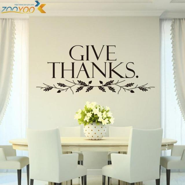 Learn To Give Thanks Love Quotes Wall Stickers Home Decor Bedroom  Decorations Sticker Diy 3d Vinly