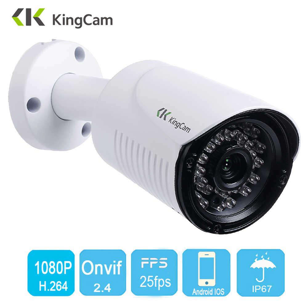 Kingcam Outdoor Ip-kamera 1080 P 25fps 2,8mm Weitwinkel Metall Fall CCTV Video Überwachung Kugel O Kameras Wasserdicht cam