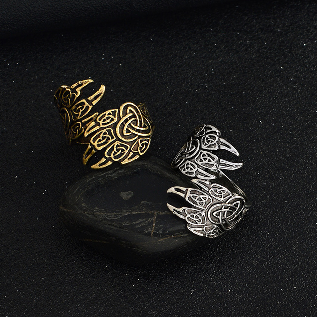 Ancient Silver Bronze Men Adjustable Fashion Ring