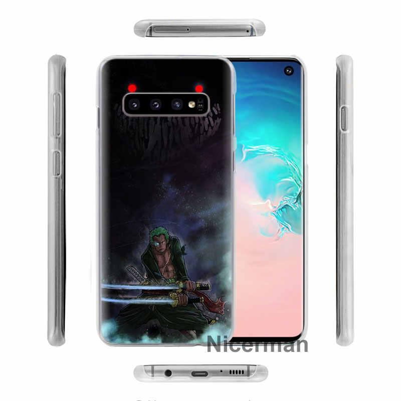 Một Mảnh zoro Luffy Điện Thoại Trường Hợp đối Với Samsung Galaxy S10e S10 Cộng Với S8 S9 Cộng Với S6 S7 Cạnh A40 A50 a70 M20 Trường Hợp Coque