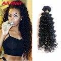Peruvian Deep Wave 4 Bundles 8A Virgin Peruvian Deep Curly Hair Weaves 18 20 22 24 inch Deep Wave Virgin Hair 4 Bundle Deals