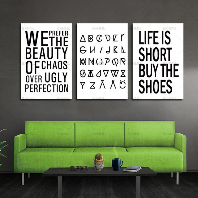 canvas painting wall art Inspiration Quote Canvas Art Print Painting ...