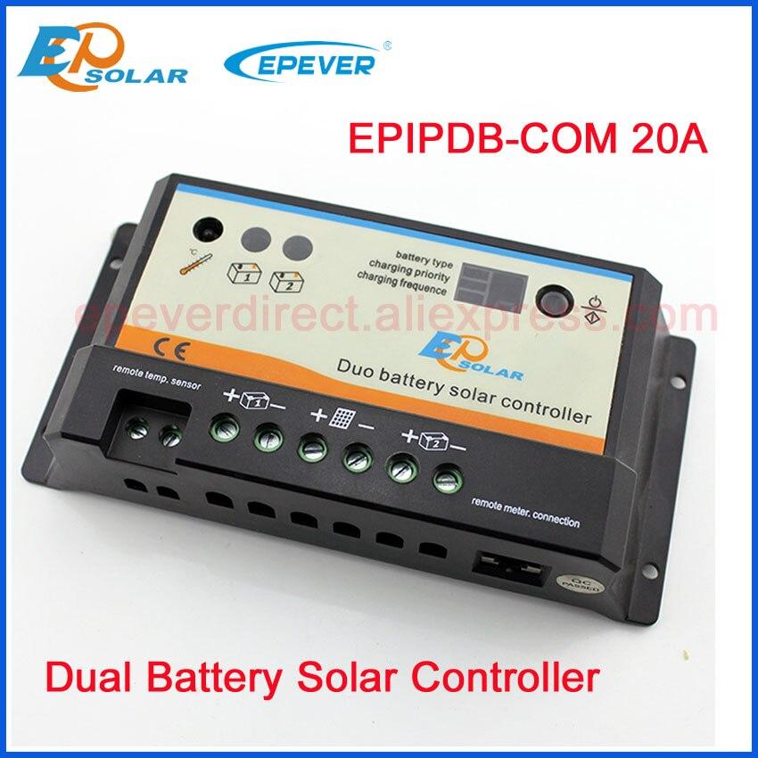 20A PWM solaire contrôleur sans charge terminal Double batterie système de charge des panneaux Solaires 24 V 550 W max puissance EPIP-COM EPEVER