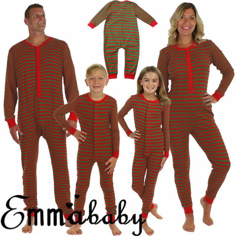 Christmas Family Pajamas Set Snowflake Hooded Parent-Child Sleepwear Romper Jumpsuit