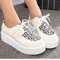 20% OFF Autumn Creepers Platform Shoes Women Flats Female Womens Girl Footwear Women Black White Thick Flat Heel Slip Soft Shoes