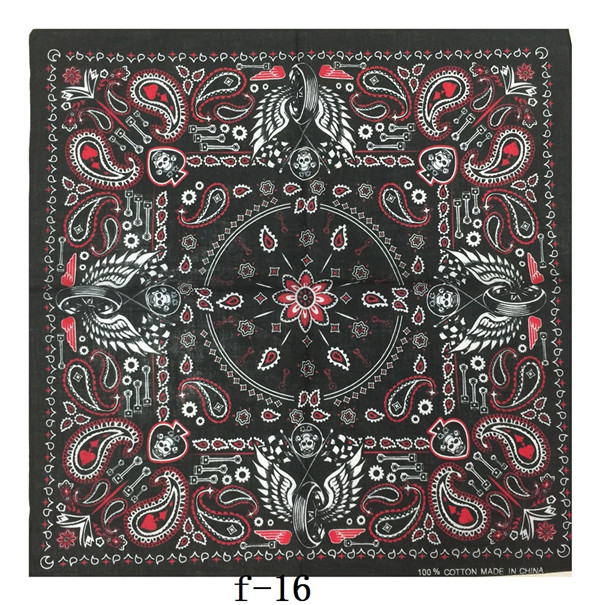 BAORULUCK Cotton Printed Bandanas Foulard Scarf for