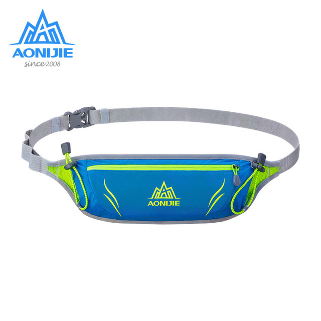 NEW AONIJIE Multifunction Marathon Outdoor Sports Running Waist Bag Belt Yoga Pockets For Mobile Phone Gym Bags Waterproof Nylon