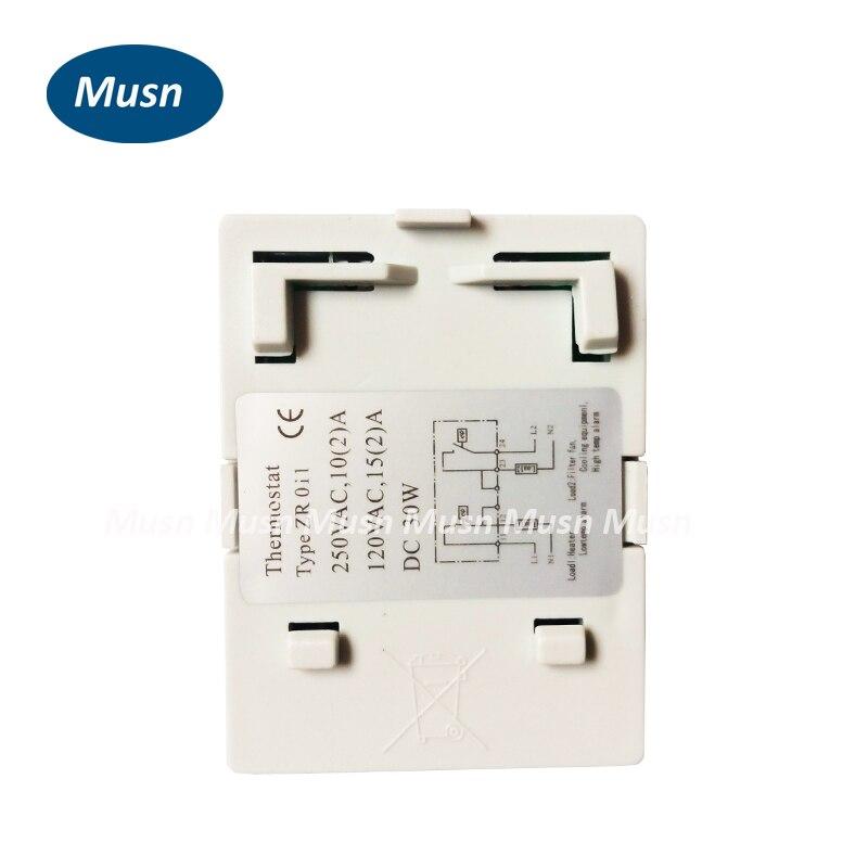 Kompakte einstellbare temperaturschalter controller, dual thermostat ...