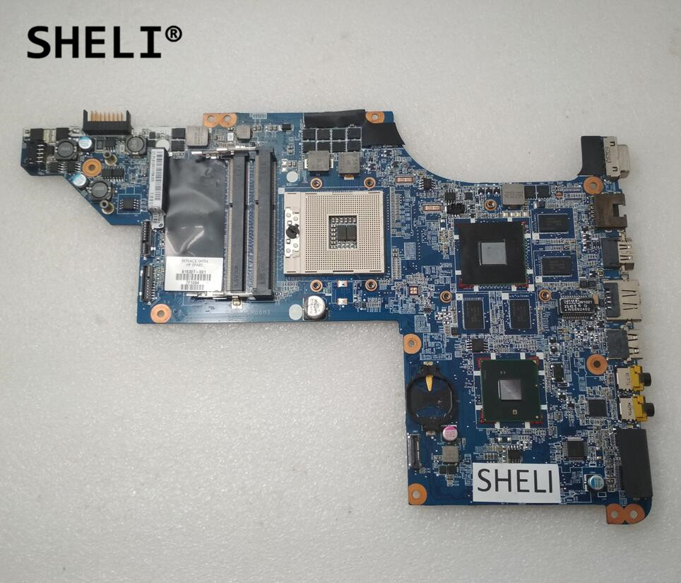 SHELI For HP DV7T DV7-4000 DV7 Motherboard with HD5650 615307-001 580974 001 for hp pavilion dv7 dv7t dv7 3000 laptop motherboard tested working