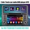 Android 6.0 rádio do carro dvd player gps wi-fi para mi/tsubishi p/ajero v97 v93 apoiar câmera traseira espelhamento de tela sensível ao toque