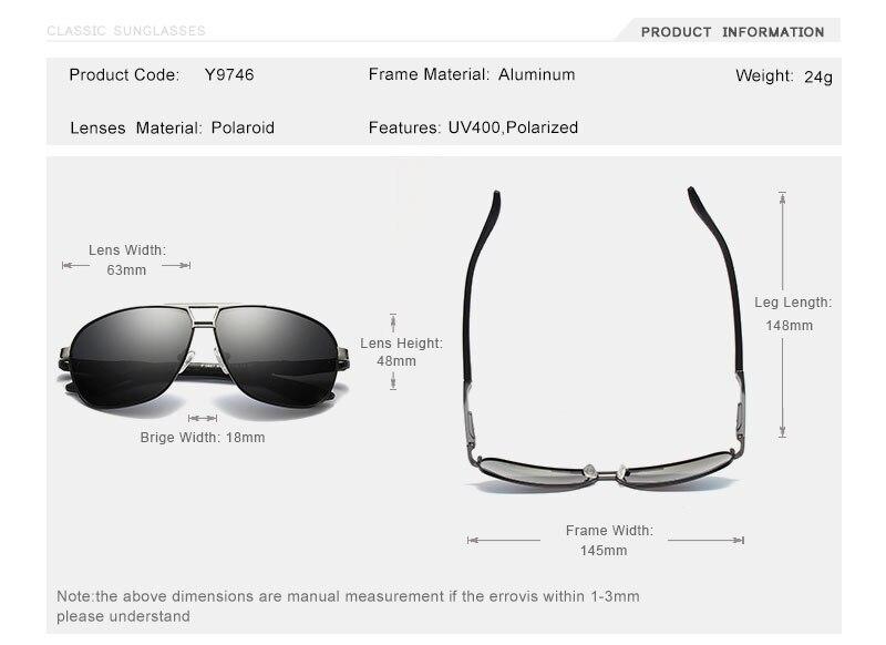 8dbf325e5 Gafas de sol polarizadas OLEY marca hombres Gafas de sol de aluminio  magnesio conducción Rectangular Gafas antideslumbrantes Gafas de sol  masculinoUSD ...