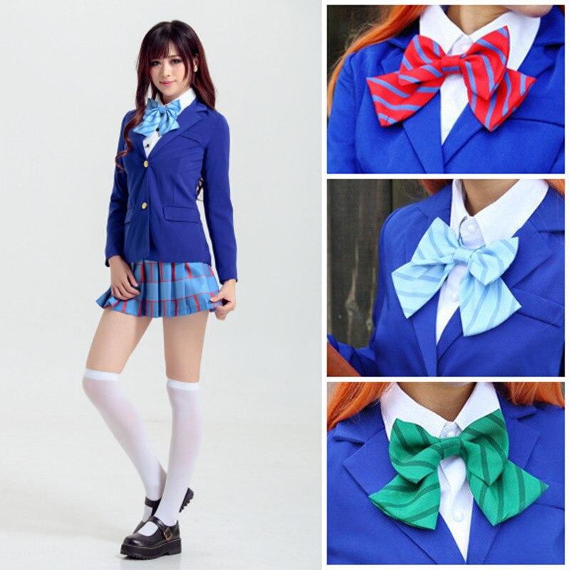 Love Live Bow Tie Kousaka Honoka Minami Kotori Ayase Eli Tojo Nozomi Nishikino Maki  School Uniforms Cosplay Accessories