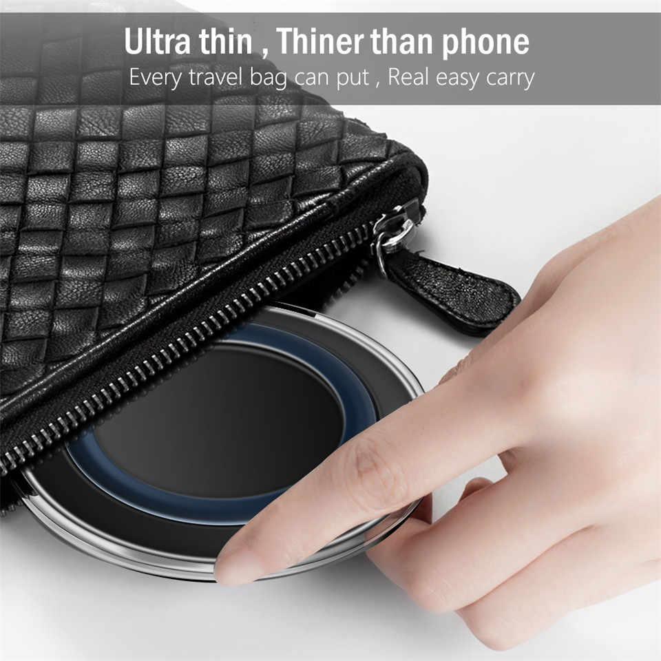 5V2A チーワイヤレス充電器サムスン S8 S9 プラス S7 注 8 ワイヤレス充電 iphone × 8 8 プラス超軽量携帯充電パッド