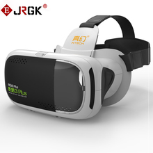 JRGK VR 3D Glasses Virtual Reality Box Headset HD Immersive 3D Helmet Cardboard for 4.7-6 inches Smartphone VR Glass 3 Plus