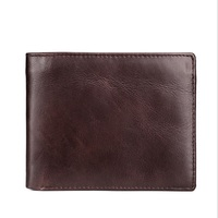 Genuine Leather Mens Wallet Man Cowhide Cover Coin Purse Small Brand Male Credit Id Multifunctional Walets