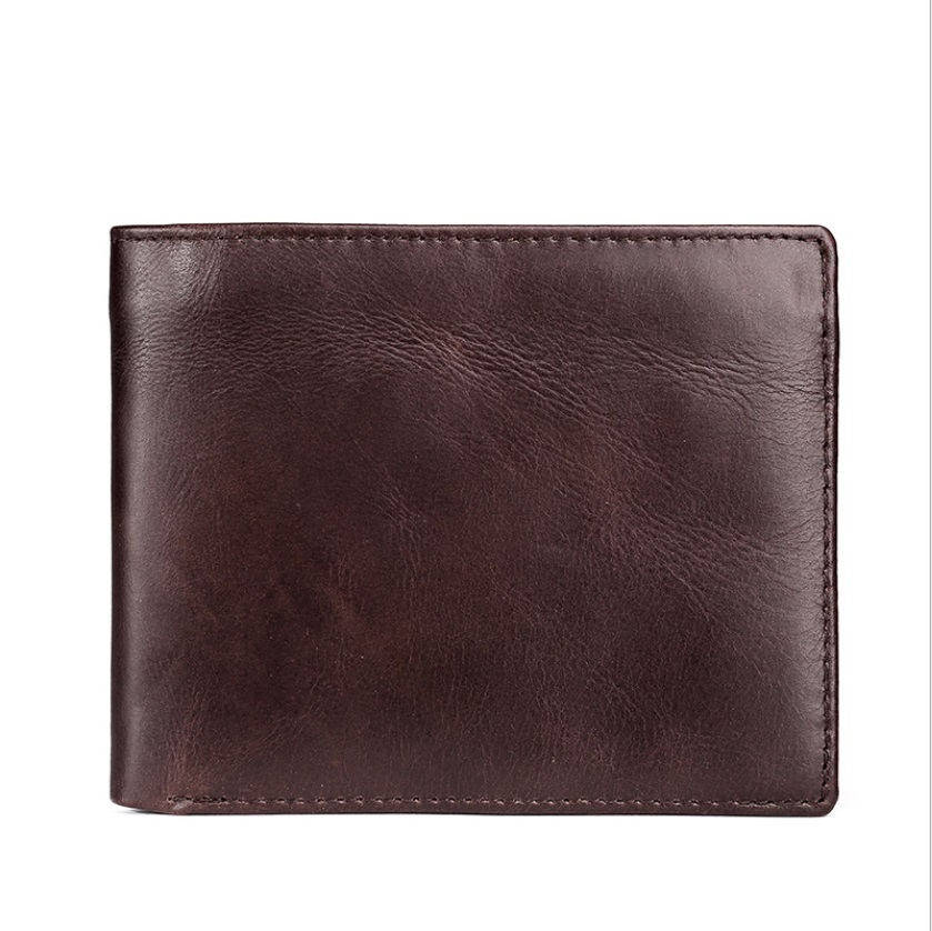Genuine Leather Mens Wallet Man Cowhide Cover Coin Purse Small Brand Male Credit&id Multifunctional Walets onlvan mens wallet crazy horse genuine leather cowhide cover coin purse man vintage male credit id multifunctional wallets