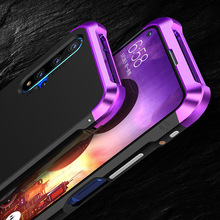 Pour Huawei P40 Pro P30 étui hybride aluminium métal pare chocs dur en plastique Anti coup étui pour Huawei Honor 20 20 Pro P30 couverture de téléphone