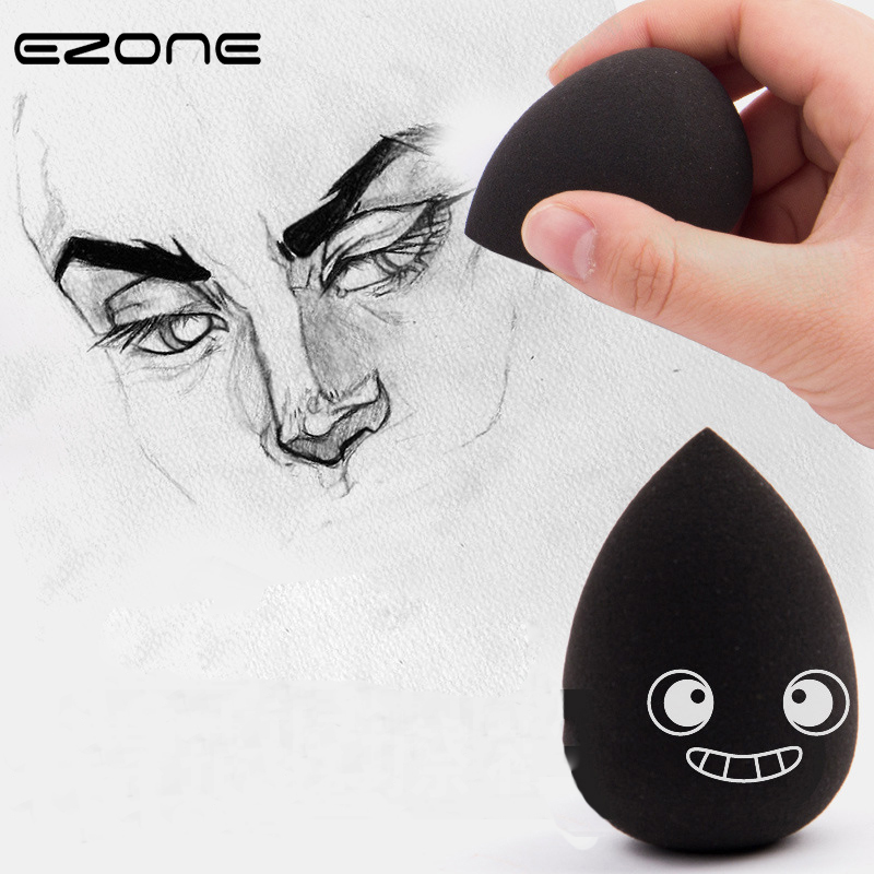 EZONE 1PC Sketch Spoon Eraser Elastic Water Droplets Spooge Egg  Art Students  Highlighter Eraser Materials Supplies Practical