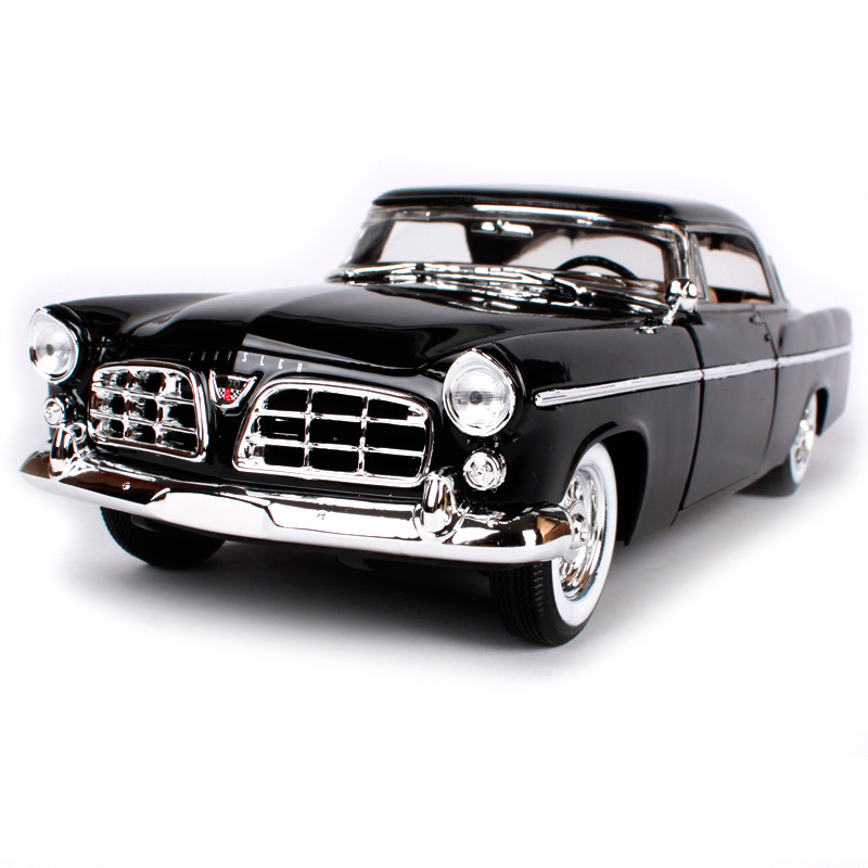 Maisto 1:18 Chrysler 300B Car model Retro Classic Car Diecast Model Car Toy New In Box Free Shipping 31897 1 18 scale maisto classic children 1956 chrysler 300b antique vintage car metal diecast vehicle gift model kids toys collectible