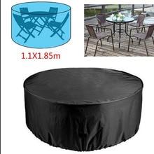 2 rozmiary okrągła pokrywa wodoodporna Patio na świeżym powietrzu ogród pokrowce na meble deszcz śnieg krzesło pokrowce na sofę stół i krzesła odporny na kurz Cove