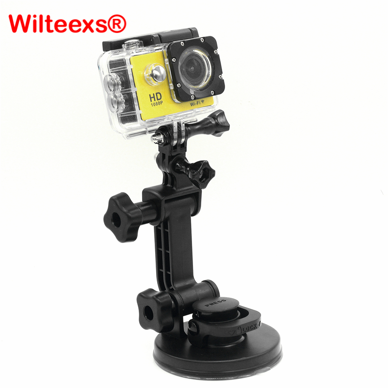 WILTEEXS accessories <font><b>Strong</b></font> Chuck <font><b>Suction</b></font> <font><b>Cup</b></font> as the original one for go pro Hero 5 4 Session 3 3+ SJ4000 XIAOYI 2 action camera