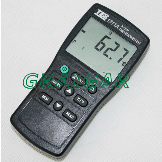TES-1311A LCD Display Digital Thermometer,Industrail Thermodetector,High Quality Thermometer  цены