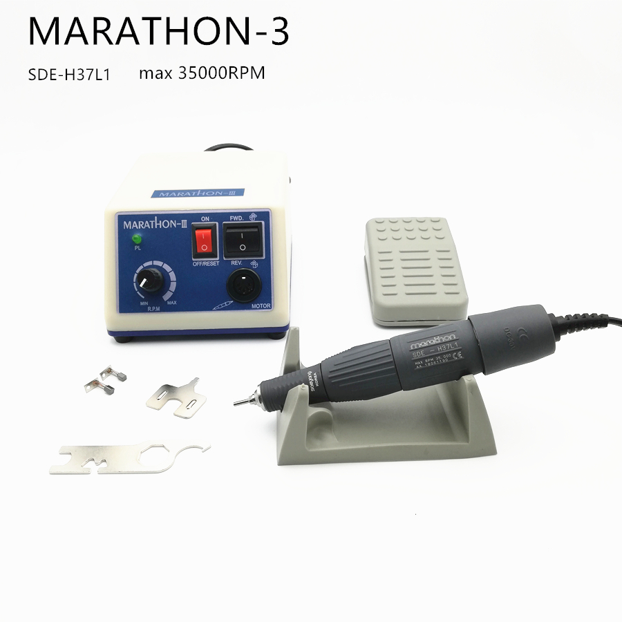 STRONG Advanced Micromotor MARATHON 3 SDE-H37L1 35000RPM Handle Grinder Tool Electric Nail Drill Manicure Nail Art EquipmentSTRONG Advanced Micromotor MARATHON 3 SDE-H37L1 35000RPM Handle Grinder Tool Electric Nail Drill Manicure Nail Art Equipment