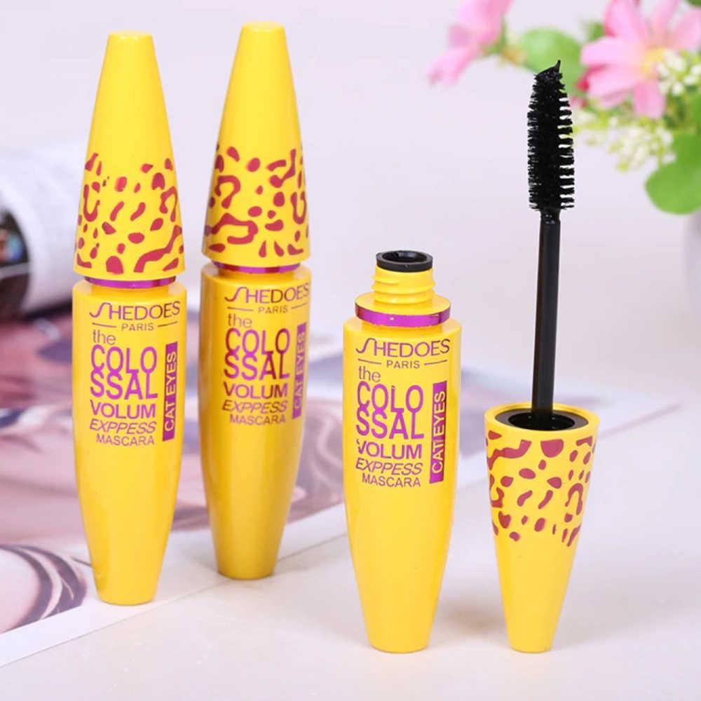 Nouveau Mascara 4D Fiber de soie durable Anti-aquarelle maquillage cils Rimel 3D Mascara noir concentré cils cosmétique TSLM2