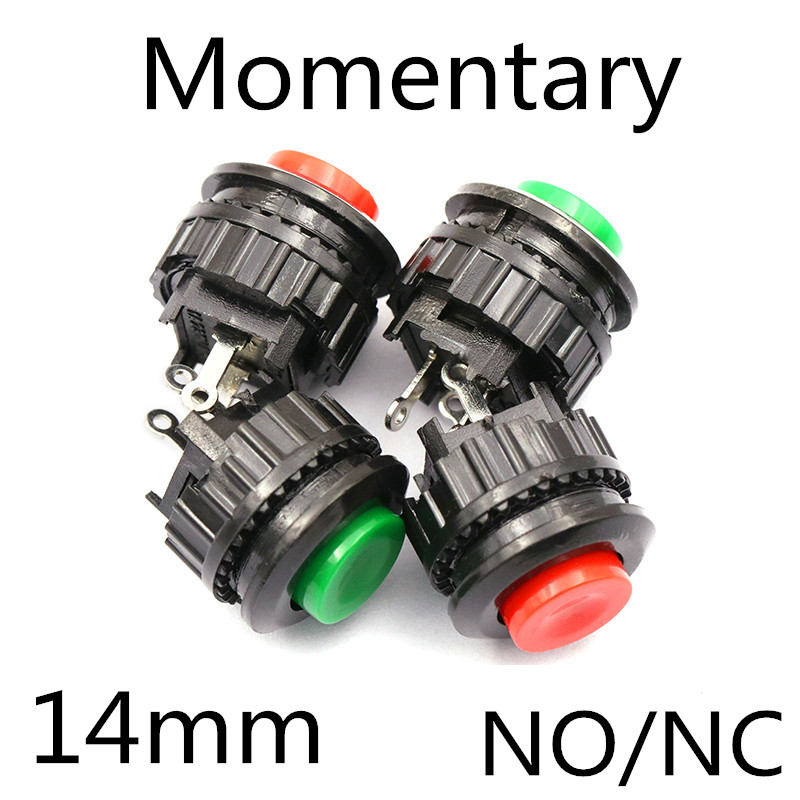 5pcs Red ON 2Pin SPST Press To ON Momentary 5mm Hole Push Button Switch