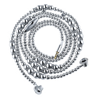 URIZONS wired earphones silver luxury Beads jewelry Pearl Necklace bass earphones With Mic suitable for all phone and android
