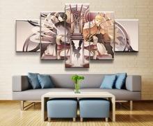 Naruto Sasuke Anime 5 Piece HD Print Wall Art Canvas For Living Room Decor Painting Home Picture