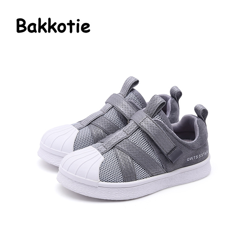 Bakkotie 2018 Spring Fashion New Kid Brand Casual Sneaker Child Girl Mesh Sport Shoes Baby Boy Genuine Leather Black Trainer bakkotie 2017 new fashion spring autumn baby boy casual sport shoe brand leisure trainer breathable sneaker girl first walkers