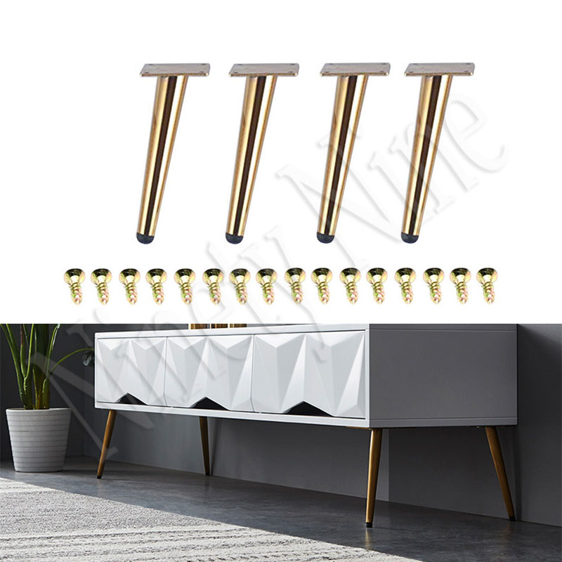 4PCS Furniture Legs 7.8''H Sofa Legs Furniture Feet Replacement Legs With Leg  For Sofa Cabinet Couch Ottoman Coffee Table Bench