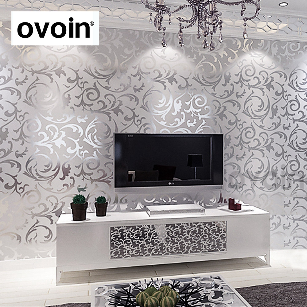 Silver Wallpaper Bedroom Compare Prices On Silver Leaf Wallpaper Online Shopping Buy Low
