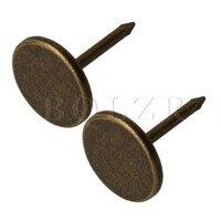 BQLZR Bronze Iron Drawing Pin Thumb Tacks Upholstery Nails Thumbtack Furniture Decorative Pins Pack of 100