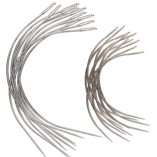 1050pcspack Big C Shaped Curved Hair Weaving Needles For Human