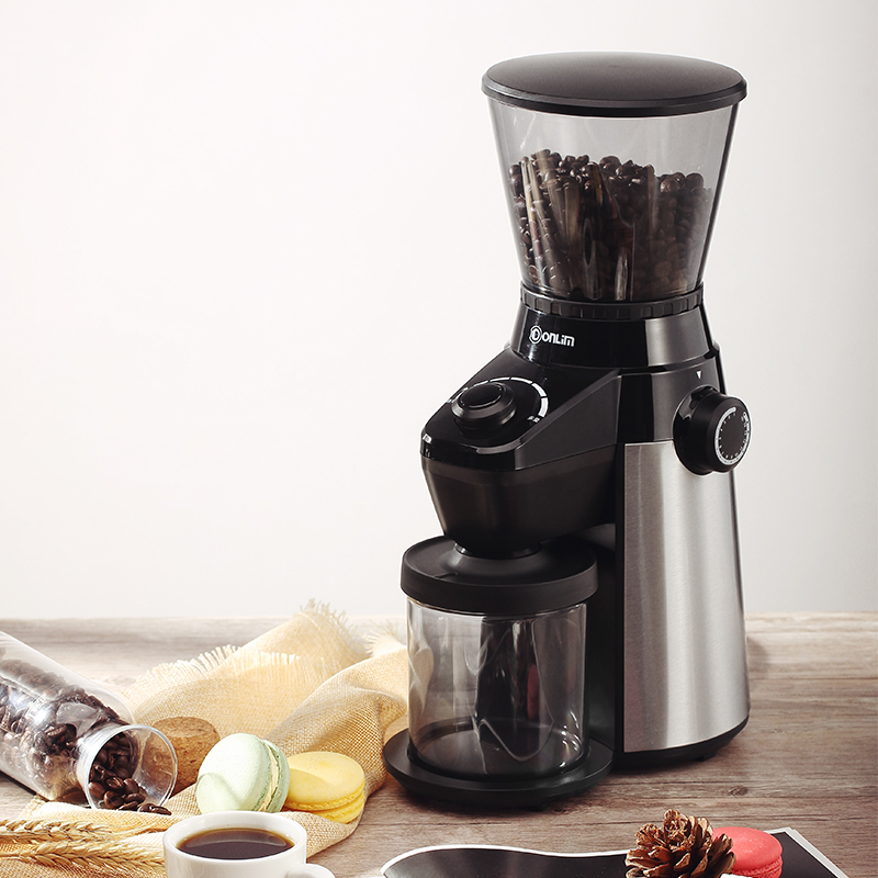 Electric Coffee Grinder Stainless Steel Blades Coffee Beans 15 Speed Control