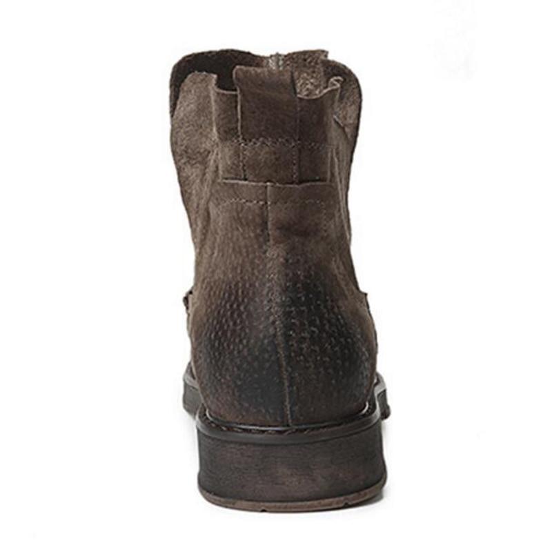 Appartements Taille Chelsea Noir Martin Shoes30 Chaussures Femmes Véritable Bottes Cuir Marque Talon Courte Bottines Grande Hiver Décontracté khaki Chaud vq0WBwpfx