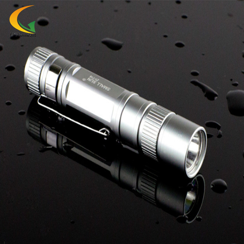 Mini LED stainless flashlights Waterproof Lanterna mini aluminum keychain led flashlight small xm l t6 torch