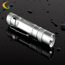 Mini LED stainless flashlights Waterproof Lanterna mini aluminum keychain led flashlight small xm-l t6 torch laser