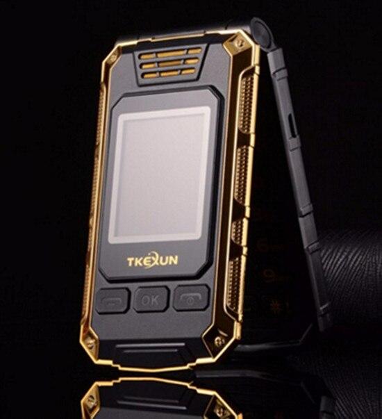 Flip Double dual Screen Dual SIM Card 2800mAh long standby touch screen FM mobile Phone TKEXUN