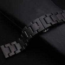 Mat Noir En Céramique Bracelets De Mode style Montre bracelet bracelet fit smart watch gear s3 22mm classique ceinture nouveau arrival2017