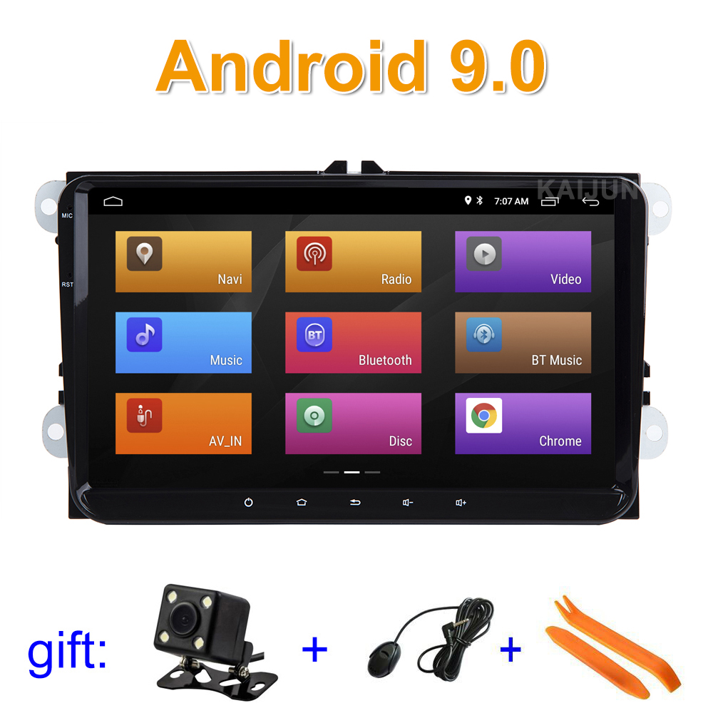 9 inch Android 9 Car DVD multimedia Radio GPS for VW Golf Polo Tiguan Passat b7