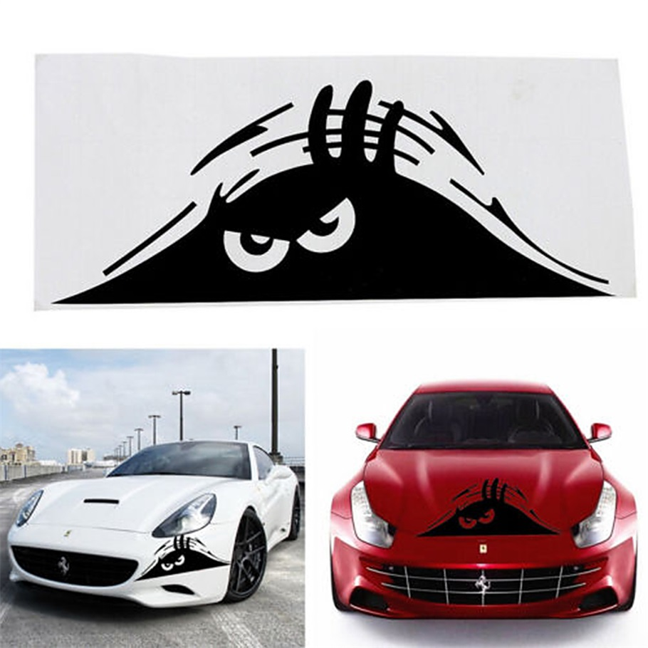 Free Shipping Funny Peeking Monster Auto Car Walls Windows Sticker - Auto graphic stickersdiscount auto graphic decalsauto graphic decals on sale at