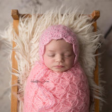 Mohair stretch wrap photography props,Handmade shell wrap for newborn photography props,soft blanket
