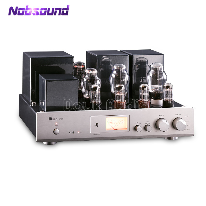 2018 MUZISHARE High End 300B Vacuum Tube Amplifier Single-ended Class A Integrated Power Amplifier 2017 new music hall 300b vacuum tube amplifier class a single ended stereo integrated amp handcraft