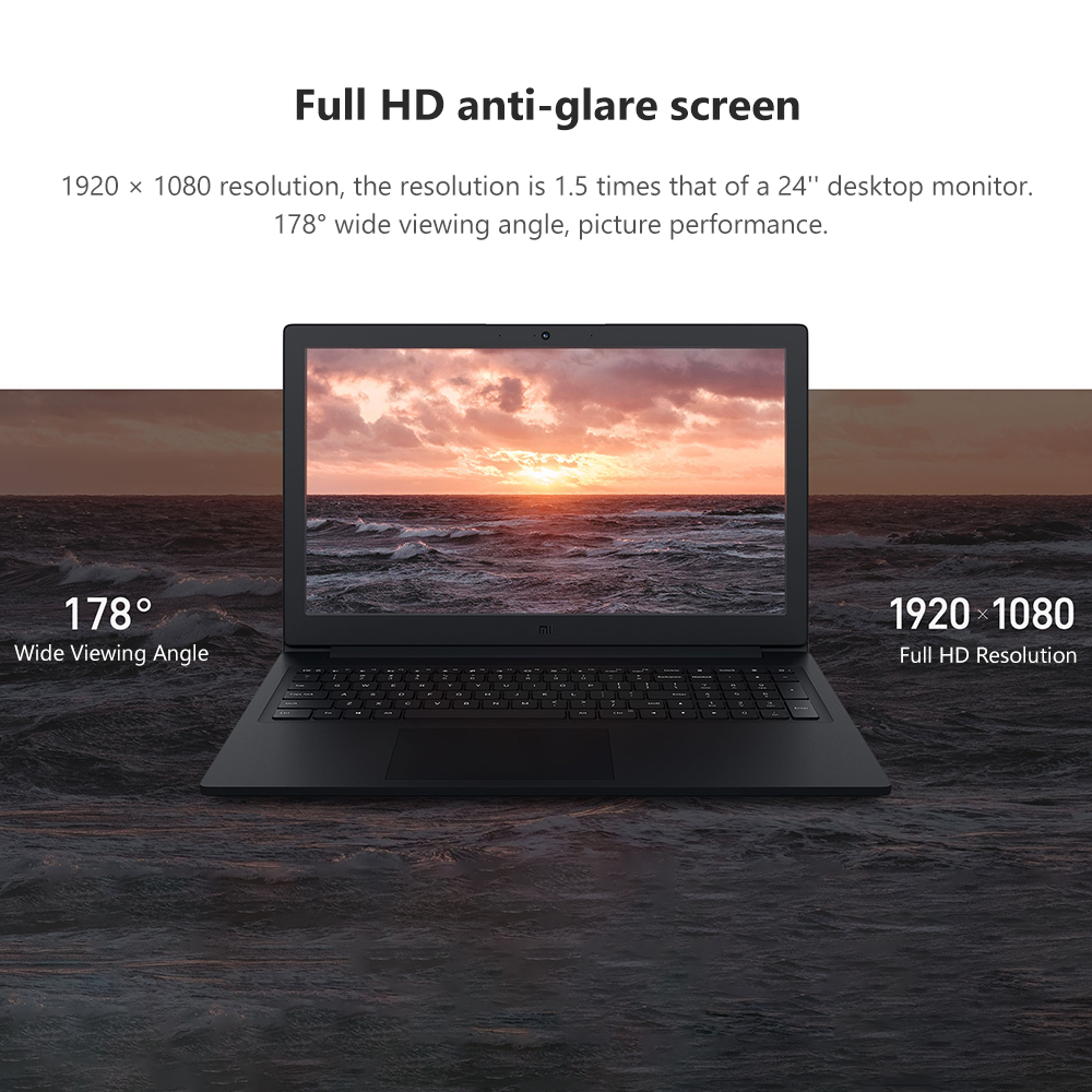 2019 Xiaomi 15.6 pouces ordinateurs portables 4G/8G RAM DDR4 128G/256G SATA SSD Intel I3/I5 Quad Core ordinateur portable clavier Touchpad PC - 6