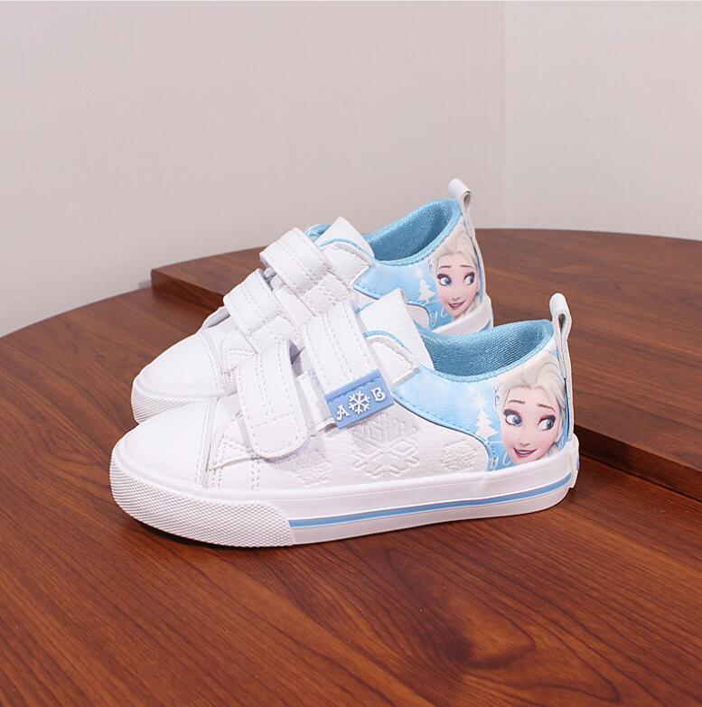2019 Hot Girls Shoes For Kids Fashion Elsa Anna Kids Shoes Ice Snow Queen Princess Casual Children Shoes Girl Sneakers EU 25-37
